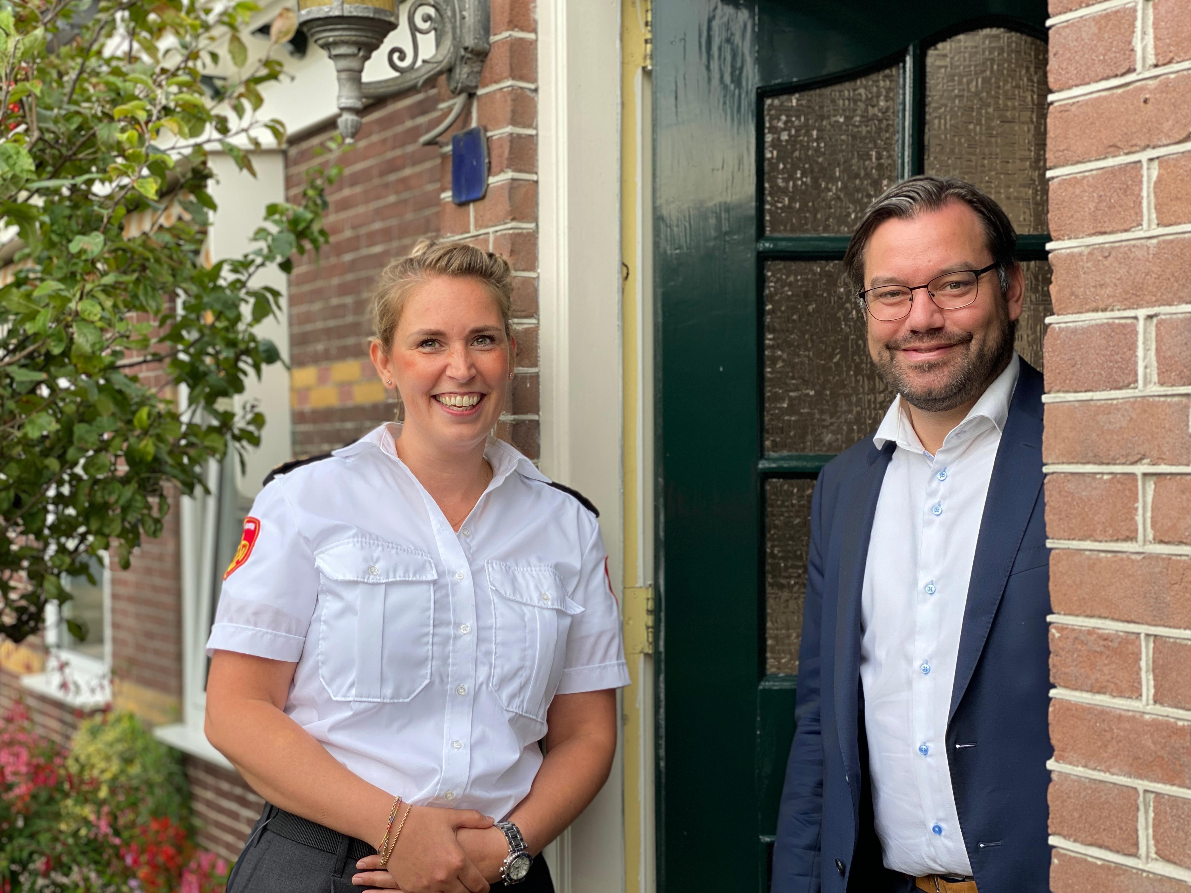 Brandweer doet een woningcheck bij burgemeester Drechterland